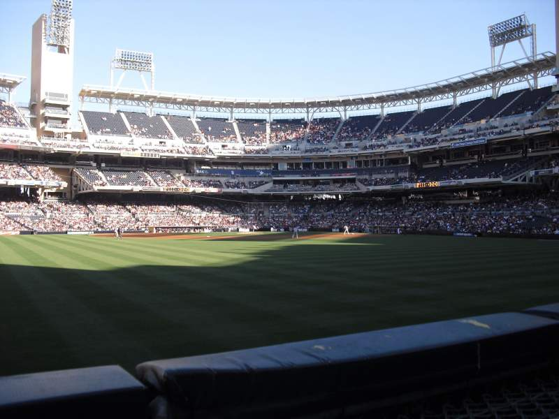Seating view for PETCO Park Section 134 Row 1 Seat 6