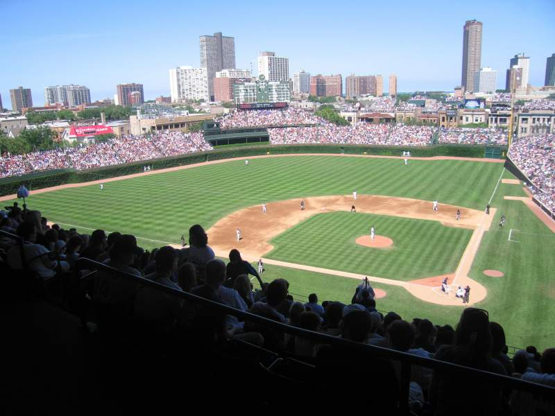 Seating view for Wrigley Field Section 517 Row 1 Seat 104