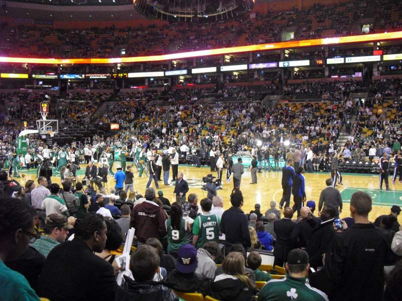 Seating view for TD Garden Section Loge 11 Row 9 Seat 3