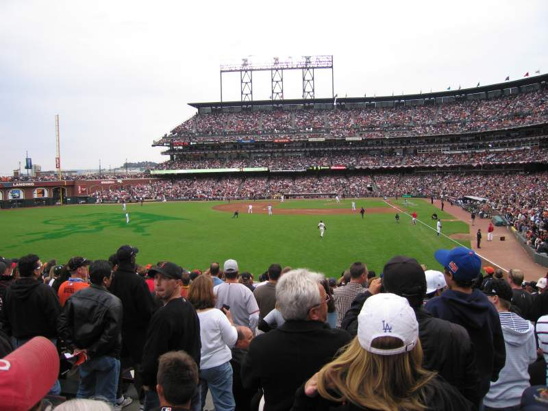 Seating view for AT&T Park Section 136 Row 19 Seat 7