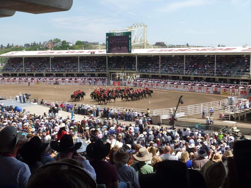 Seating view for Calgary Stampede Section 221 Row KK Seat 124