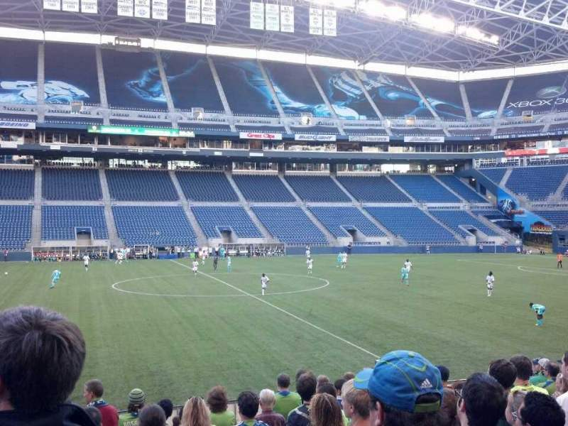 Seating view for CenturyLink Field Section 110 Row N Seat 9