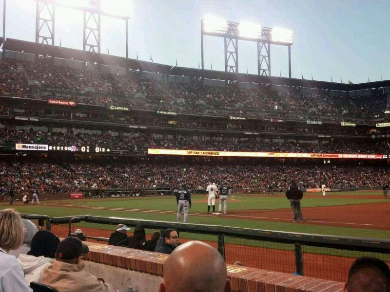 Seating view for AT&T Park Section LB105 Row 3 Seat 14