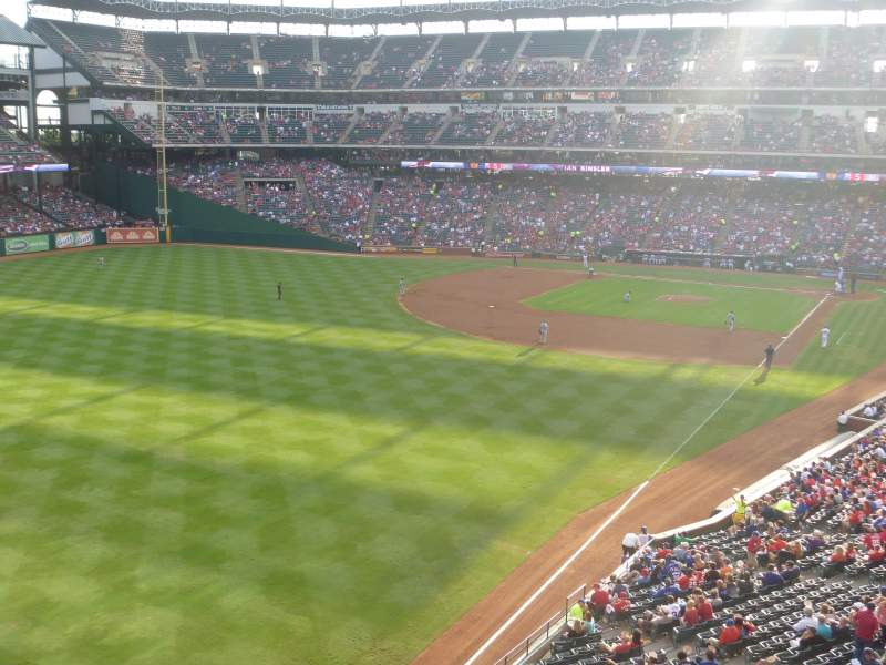 Seating view for Globe Life Park in Arlington Section 210 Row 1 Seat 2