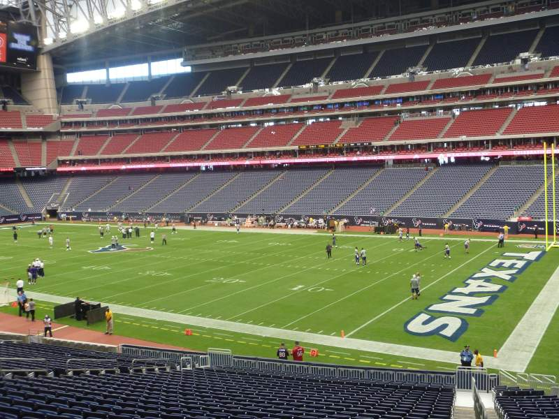 Seating view for NRG Stadium Section 102 Row EE Seat 1