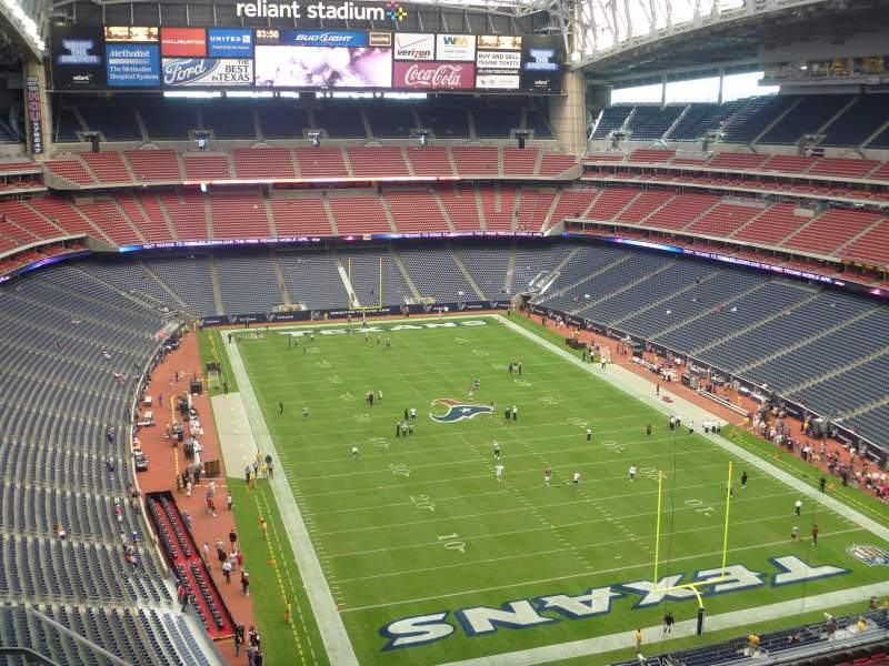 Seating view for NRG Stadium Section 624 Row E Seat 3
