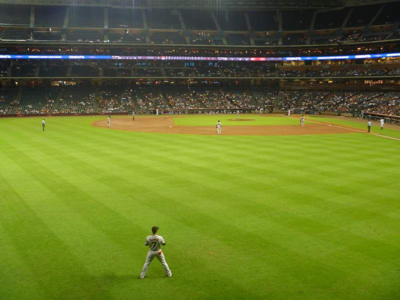 Seating view for Minute Maid Park Section 101 Row 1 Seat 7