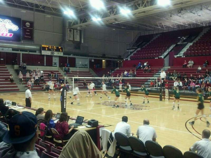 Seating view for Leavey Center Section 101 Row D Seat 4