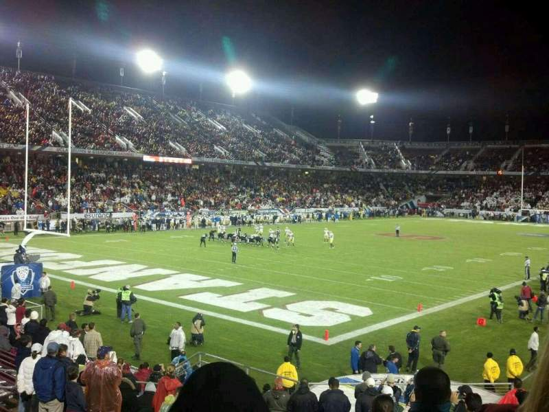 Seating view for Stanford Stadium Section 120 Row R Seat 9