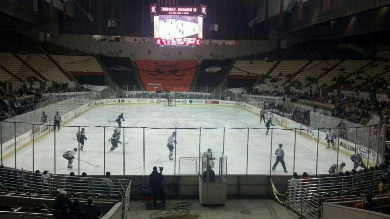 Seating view for Cow Palace Section 1 Row H Seat 12