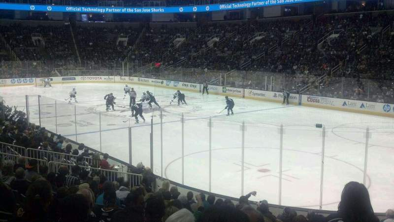 Seating view for SAP Center at San Jose Section 126 Row 14 Seat 3