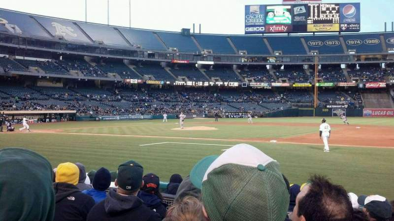 Seating view for Oakland Alameda Coliseum Section 111 Row 5 Seat 2