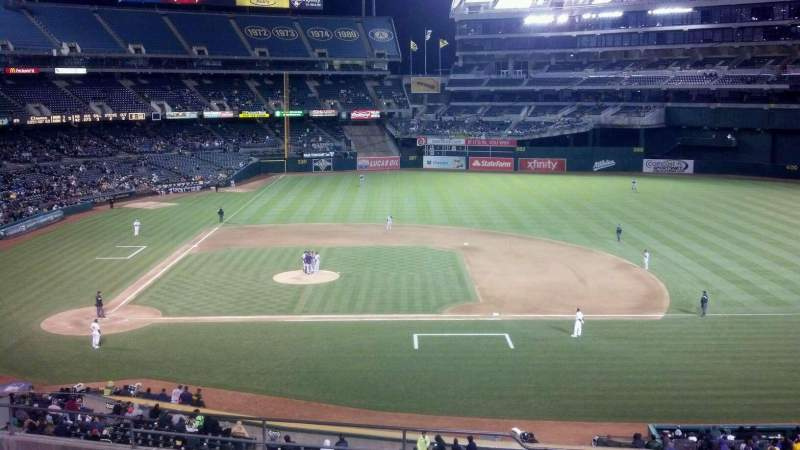 Seating view for Oakland Alameda Coliseum Section 212 Row 12 Seat 14