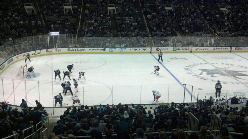 Seating view for SAP Center at San Jose Section C2 Row 1 Seat 12
