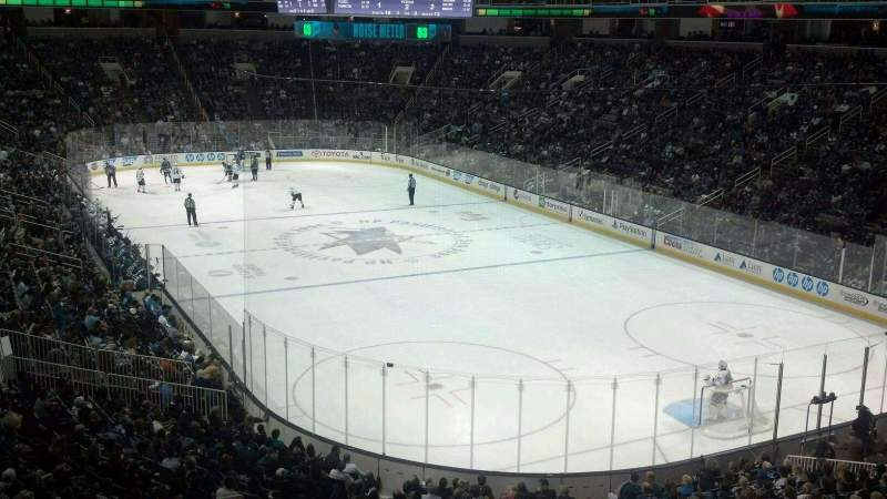Seating view for SAP Center Section C18 Row 1 Seat 6