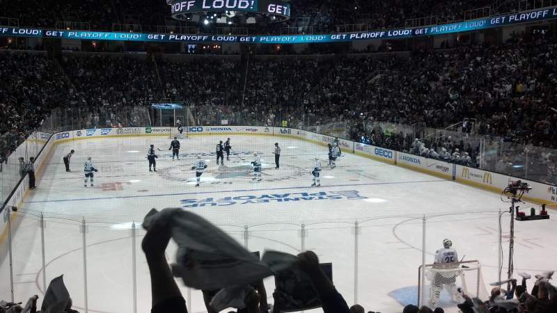 Seating view for SAP Center at San Jose Section 109 Row 14 Seat 18