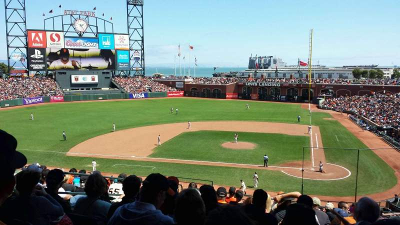 Seating view for AT&T Park Section 220 Row K Seat 9