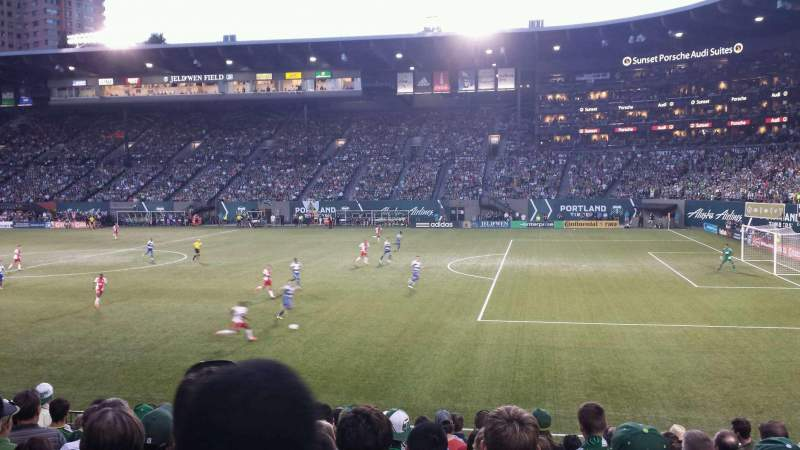 Seating view for Providence Park Section 99 Row M Seat 16