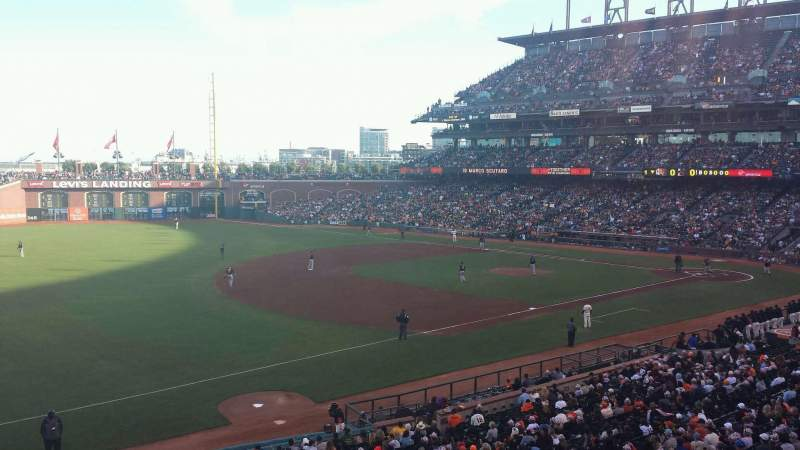 Seating view for AT&T Park Section CL228 Row A Seat 6