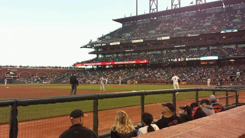 Seating view for AT&T Park Section 126 Row 1 Seat 10
