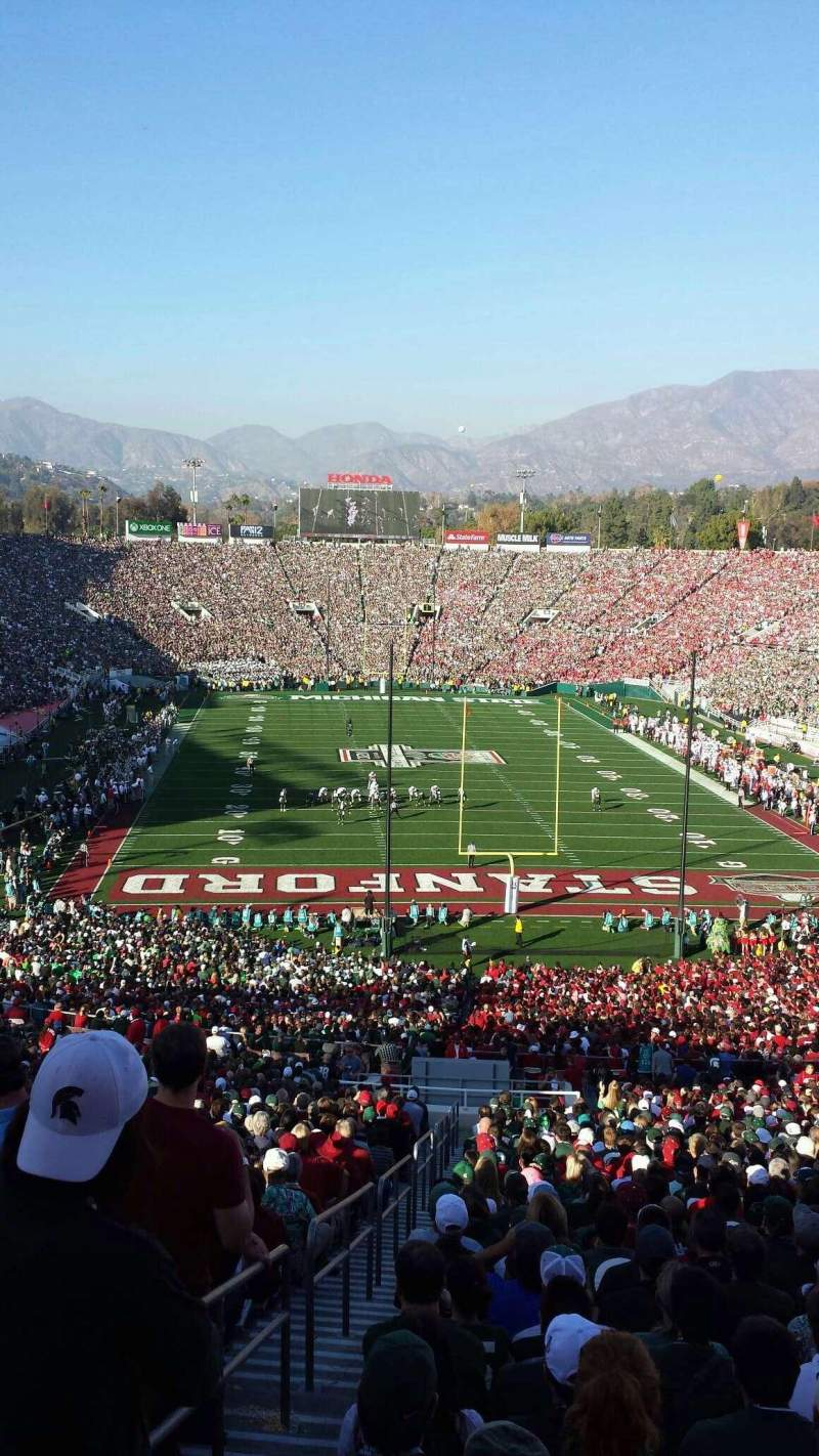 Seating view for Rose Bowl Section 25-H Row 76 Seat 126