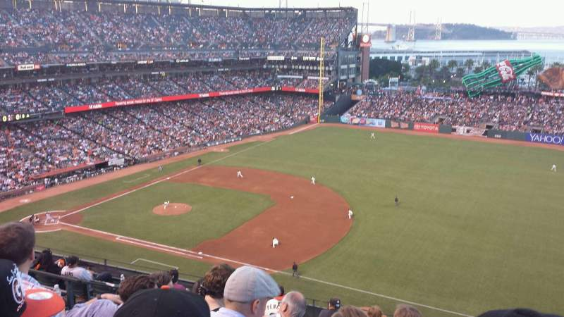 Seating view for Oracle Park Section VR304 Row 5 Seat 4