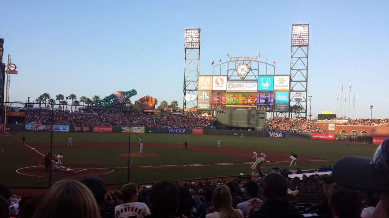 Seating view for AT&T Park Section 112 Row 27 Seat 16
