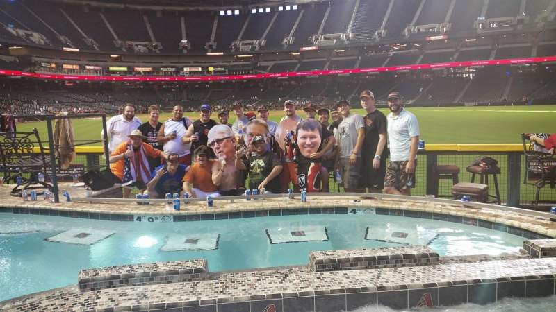 Seating view for Chase Field Section Pool Suite