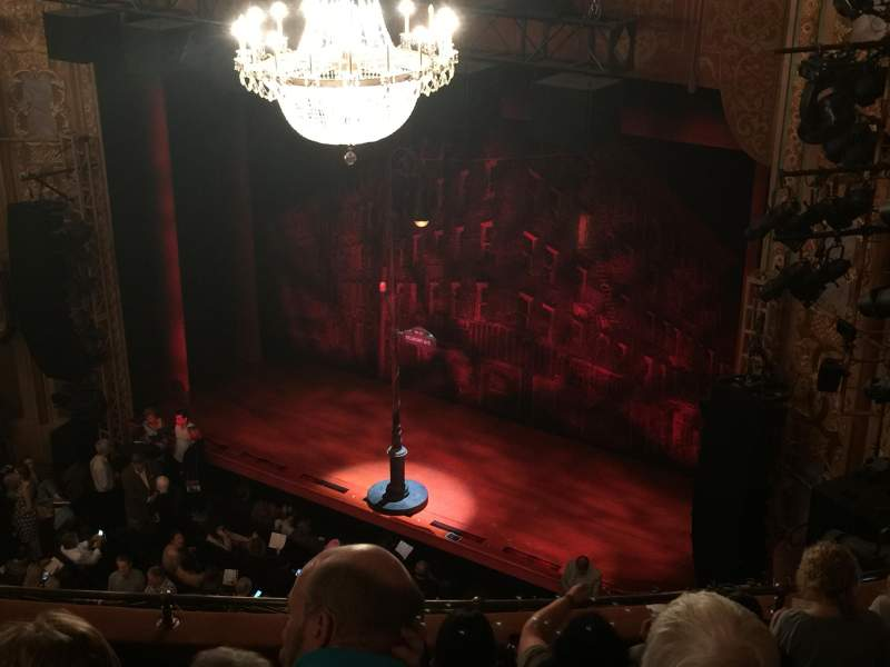 Longacre Theatre, section: Top mezzanine right, row: F, seat: 123