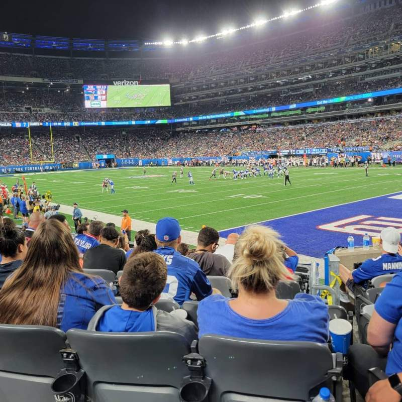 Seating view for MetLife Stadium Section 108 Row 8 Seat 1