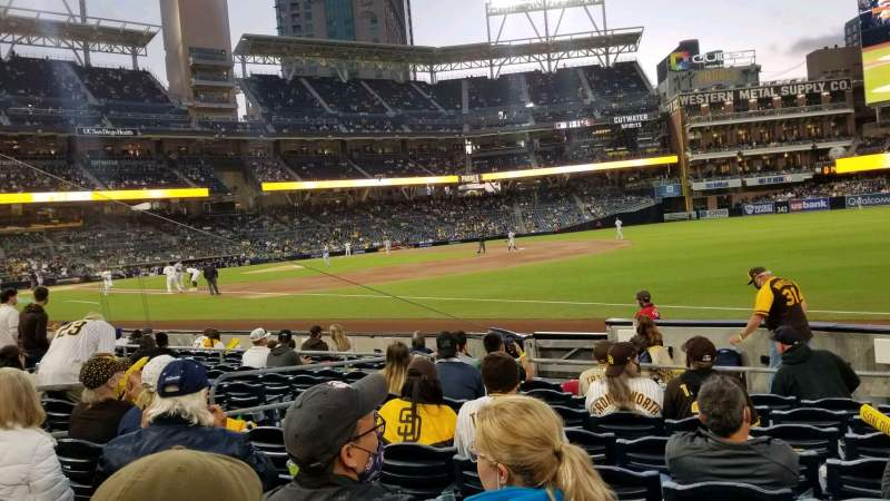 Seating view for PETCO Park Section 117 Row 12 Seat 8