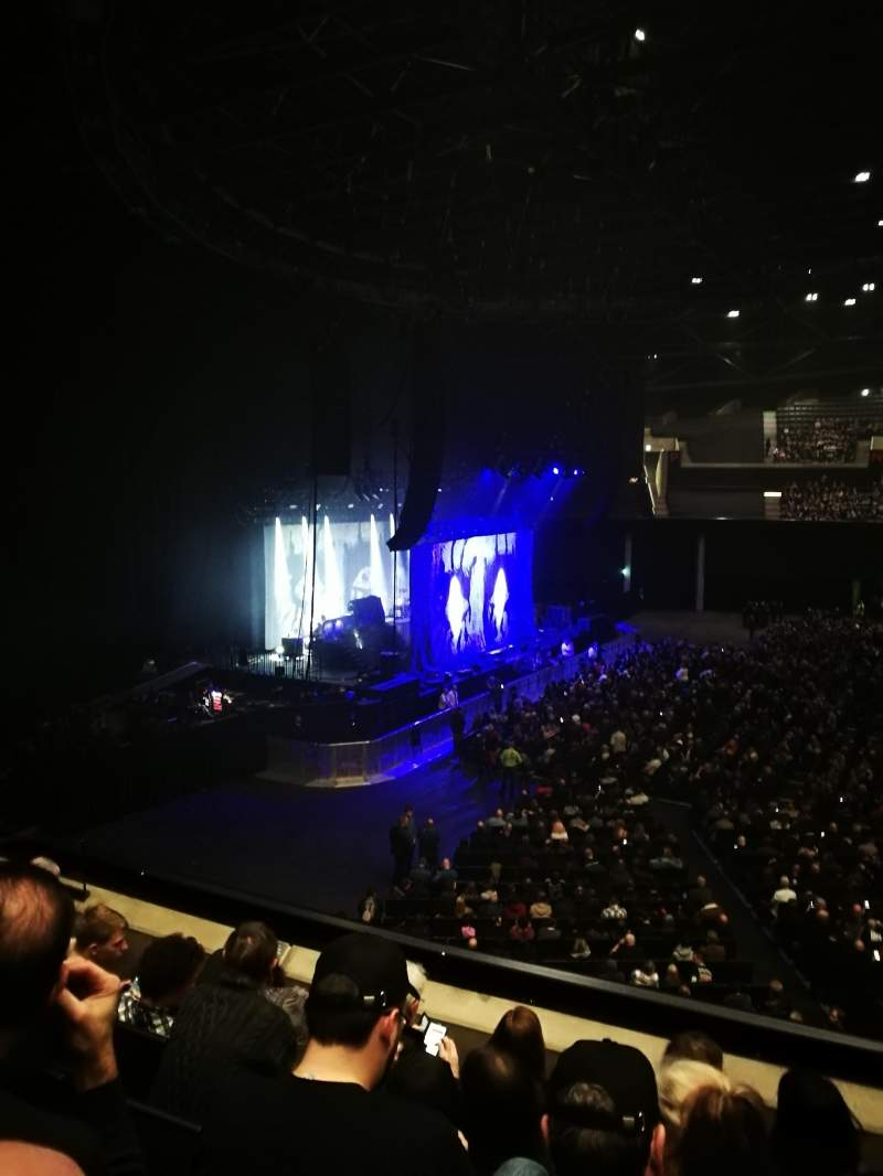 Seating view for The SSE Hydro Section 203 Row E Seat 45