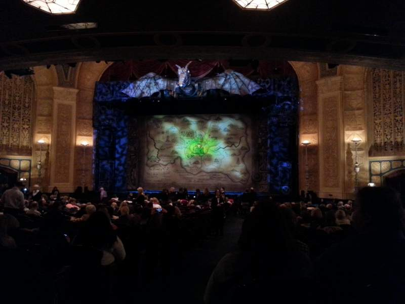 Seating view for Detroit Opera House Section Main Floor 4 Row Y Seat 102