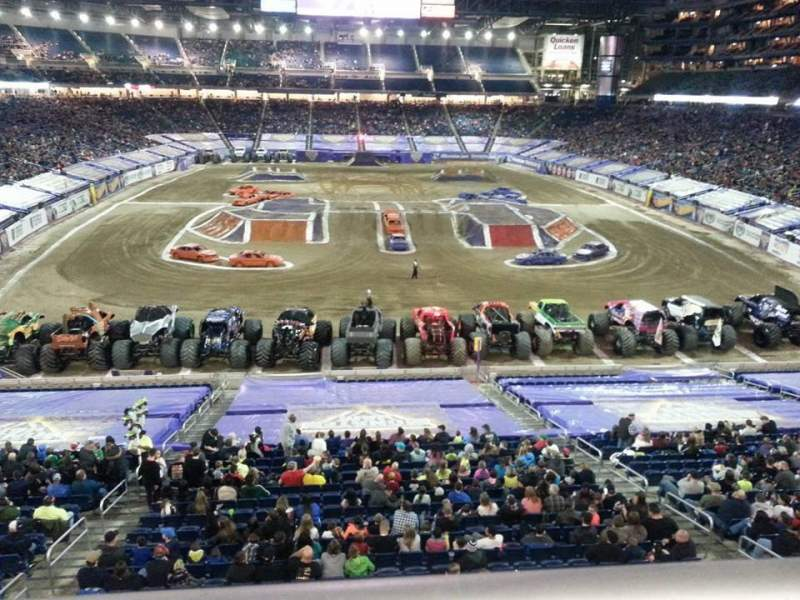Ford Field Section 242 Row 1 Seat 26 Monster Jam