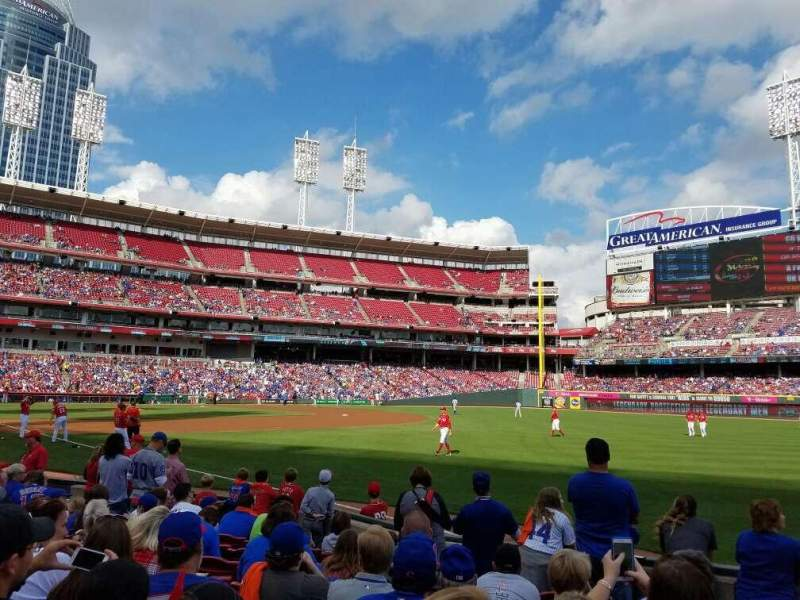 Seating view for Great American Ball Park Section 135 Row J Seat 3