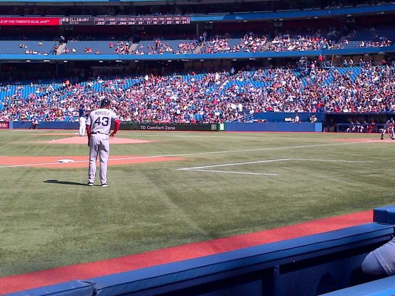 Seating view for Rogers Centre Section 129 Row 2 Seat 9
