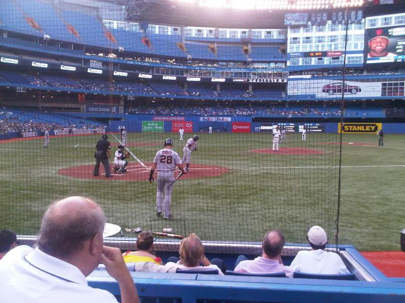 Seating view for Rogers Centre Section 120R Row 3 Seat 2