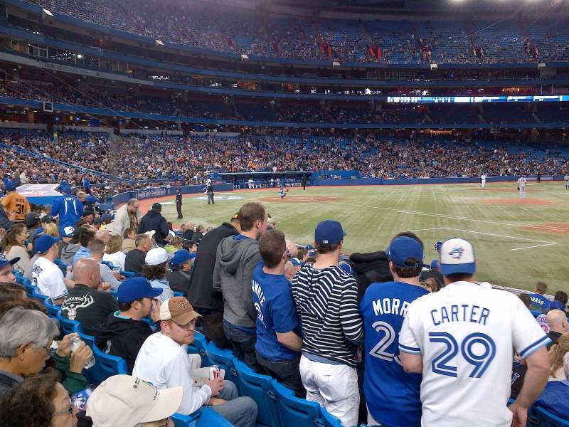 Seating view for Rogers Centre Section 115R Row 15 Seat 4