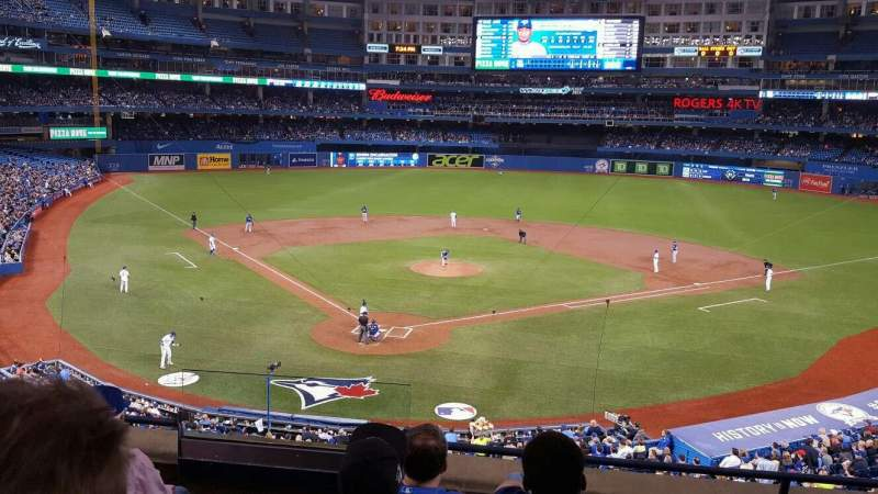 Seating view for Rogers Centre Section 223 Row 5