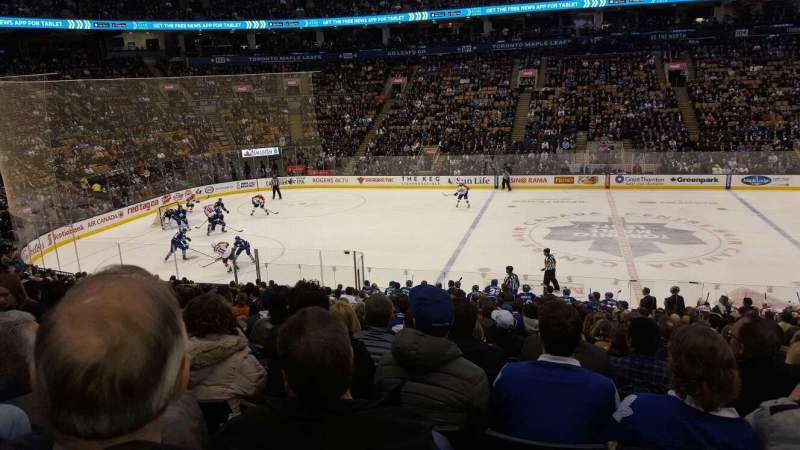 Seating view for Air Canada Centre Section 119 Row 21