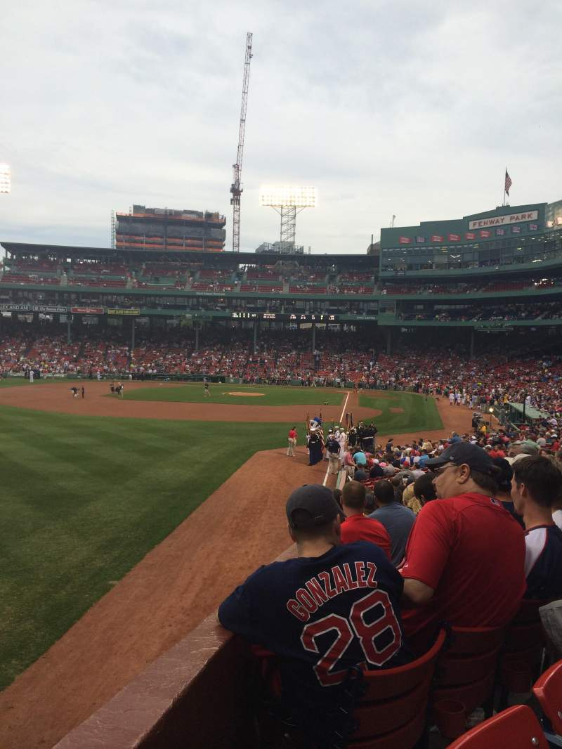 Seating view for Fenway Park Section Loge Box 165 Row PP Seat 12