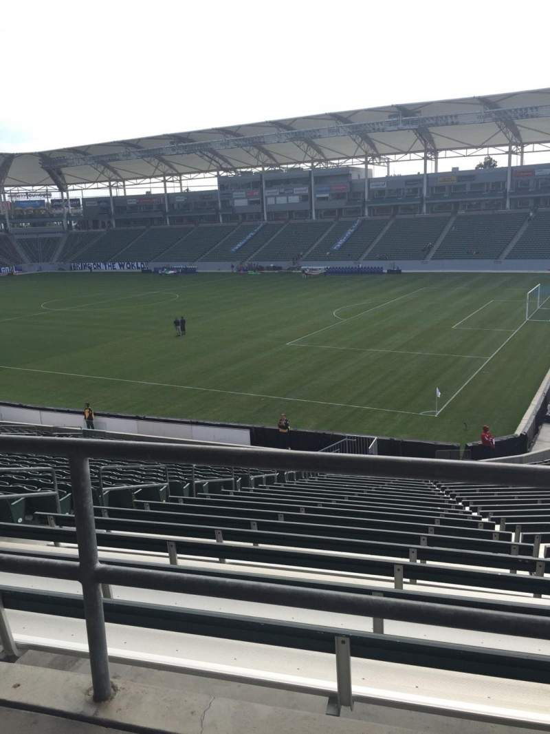 Seating view for StubHub Center Section 127 Row WC Seat 4
