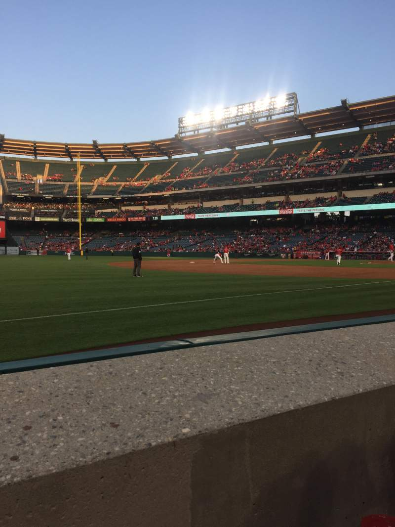 Seating view for Angel Stadium Section F108 Row A Seat 3