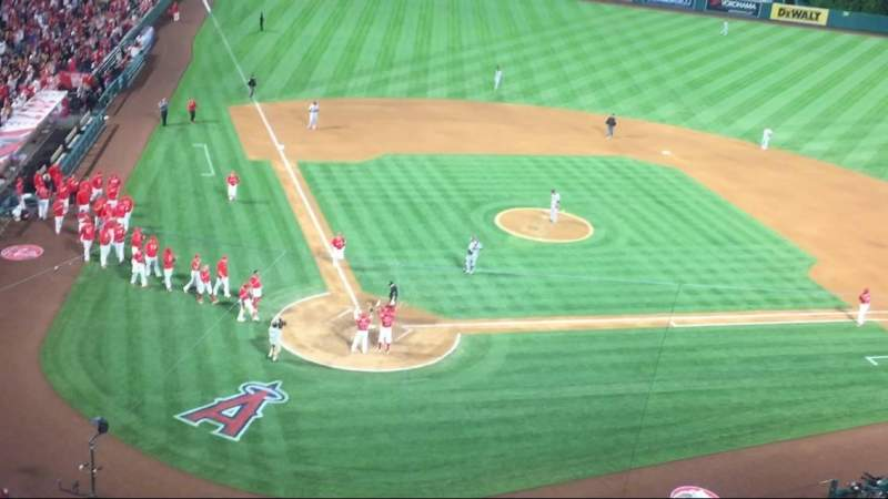 Seating view for Angel Stadium Section V421 Row A Seat 3