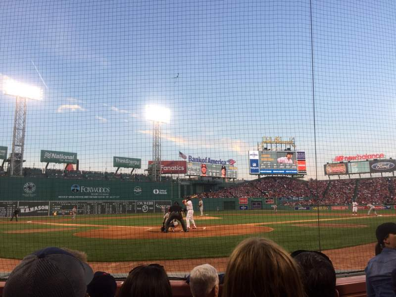 Seating view for Fenway Park Section Field Box 43 Row A Seat 4