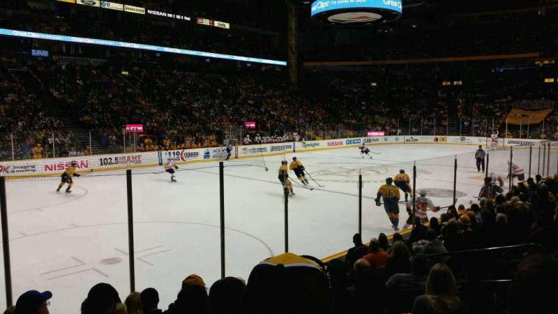 Seating view for Bridgestone Arena Section 103 Row kk Seat 8