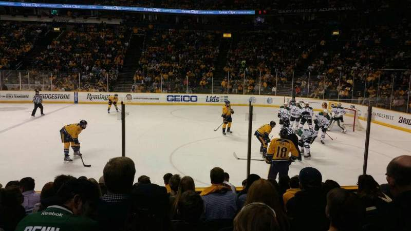 Seating view for Bridgestone Arena Section 117 Row HH Seat 10