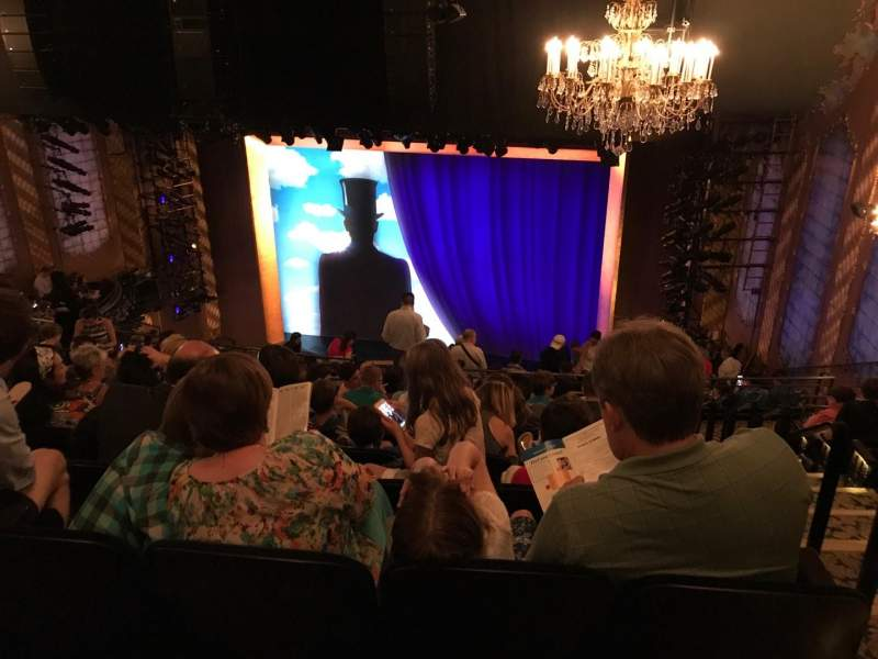 Seating view for Lunt-Fontanne Theatre Section Rear Mezzanine RC Row J Seat 128