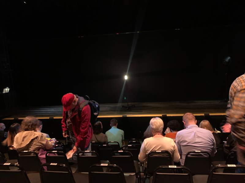 Seating view for Daryl Roth Theatre Section Orchestra C Row G Seat 105