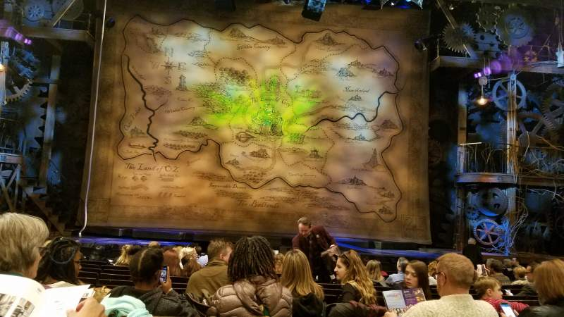 Seating view for Gershwin Theatre Section Orchestra C Row H Seat 110